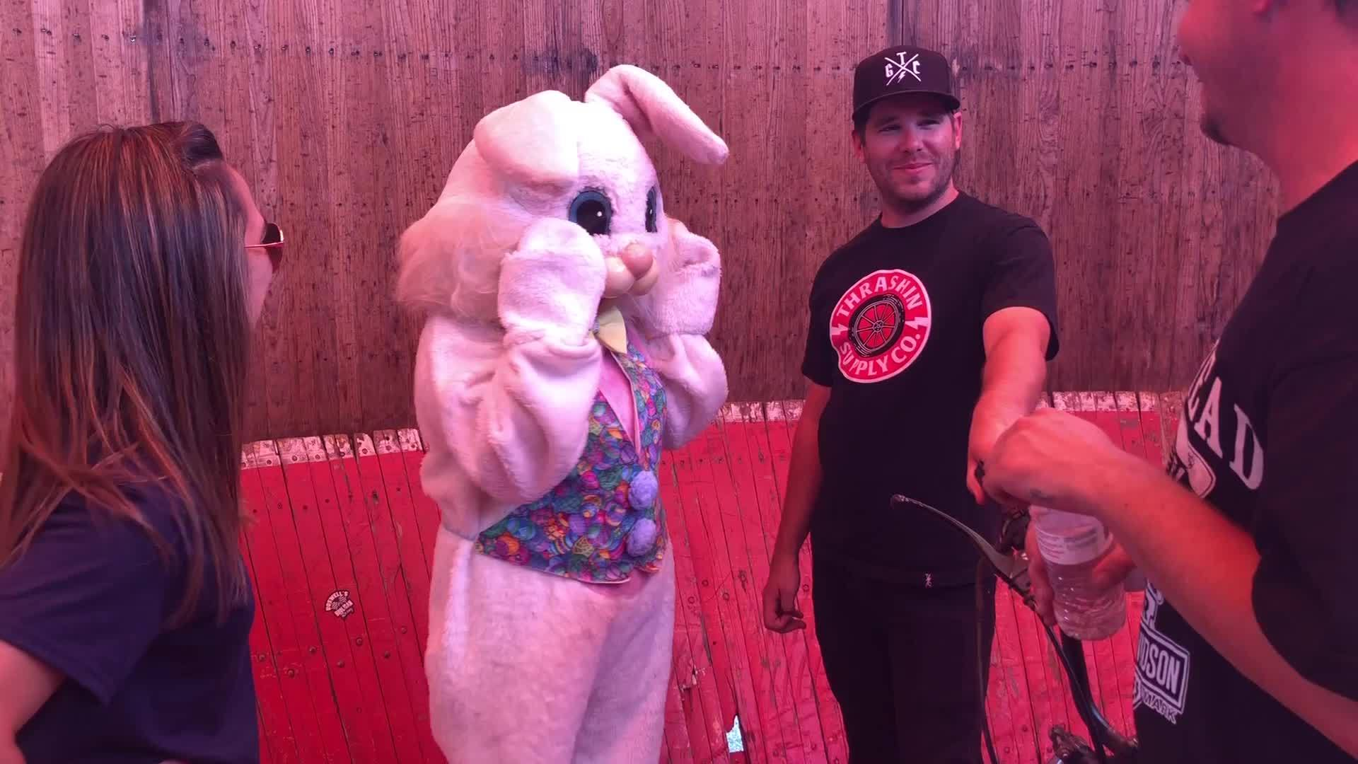 The Easter Bunny and the Wall of Death