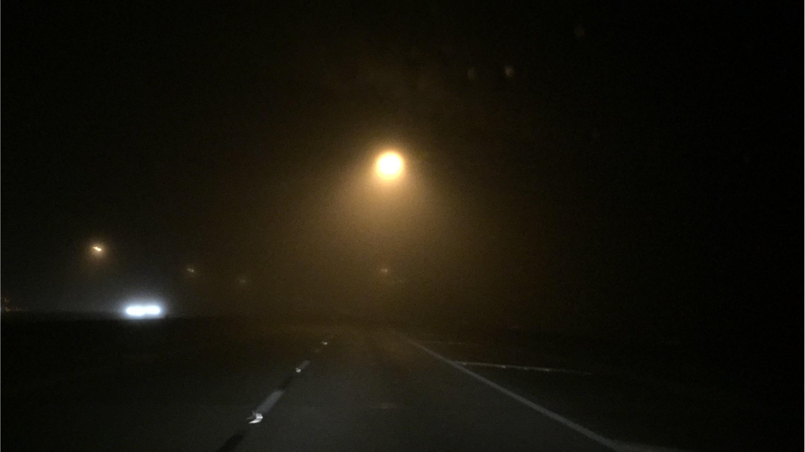 Thick fog before dawn