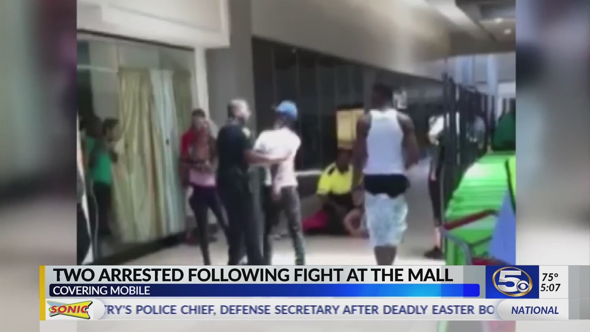 VIDEO: 2 arrested in mall fight caught on camera