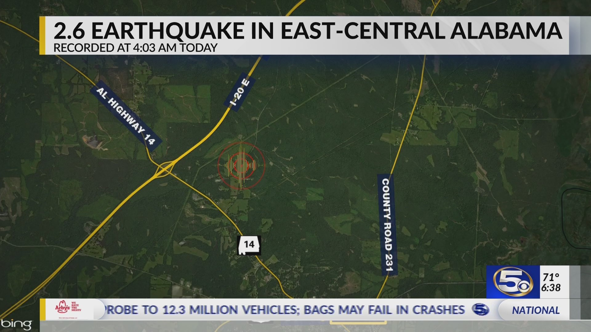 VIDEO: Alabama experiences another earthquake
