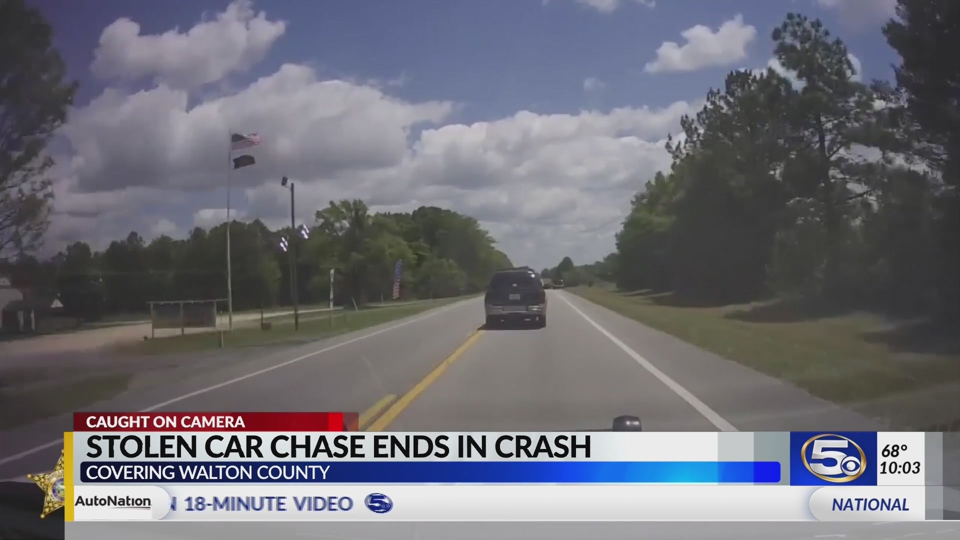 VIDEO: Stolen SUV crashes during FL chase