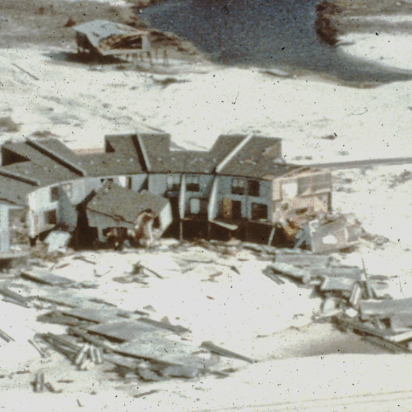 Hurricane Frederic damage in Gulf Shores by Neil Frank