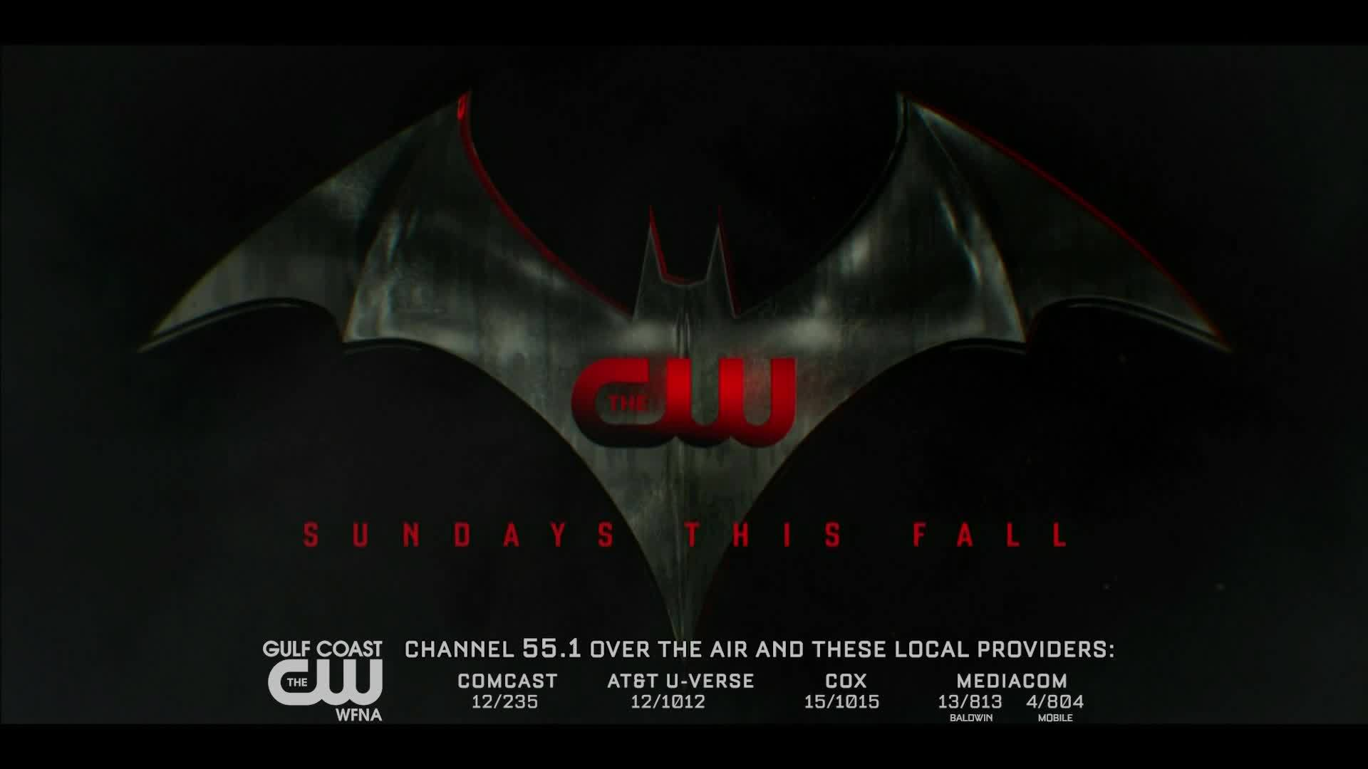 Batwoman (not Batman!) is coming to the Gulf Coast CW Sundays this Fall.