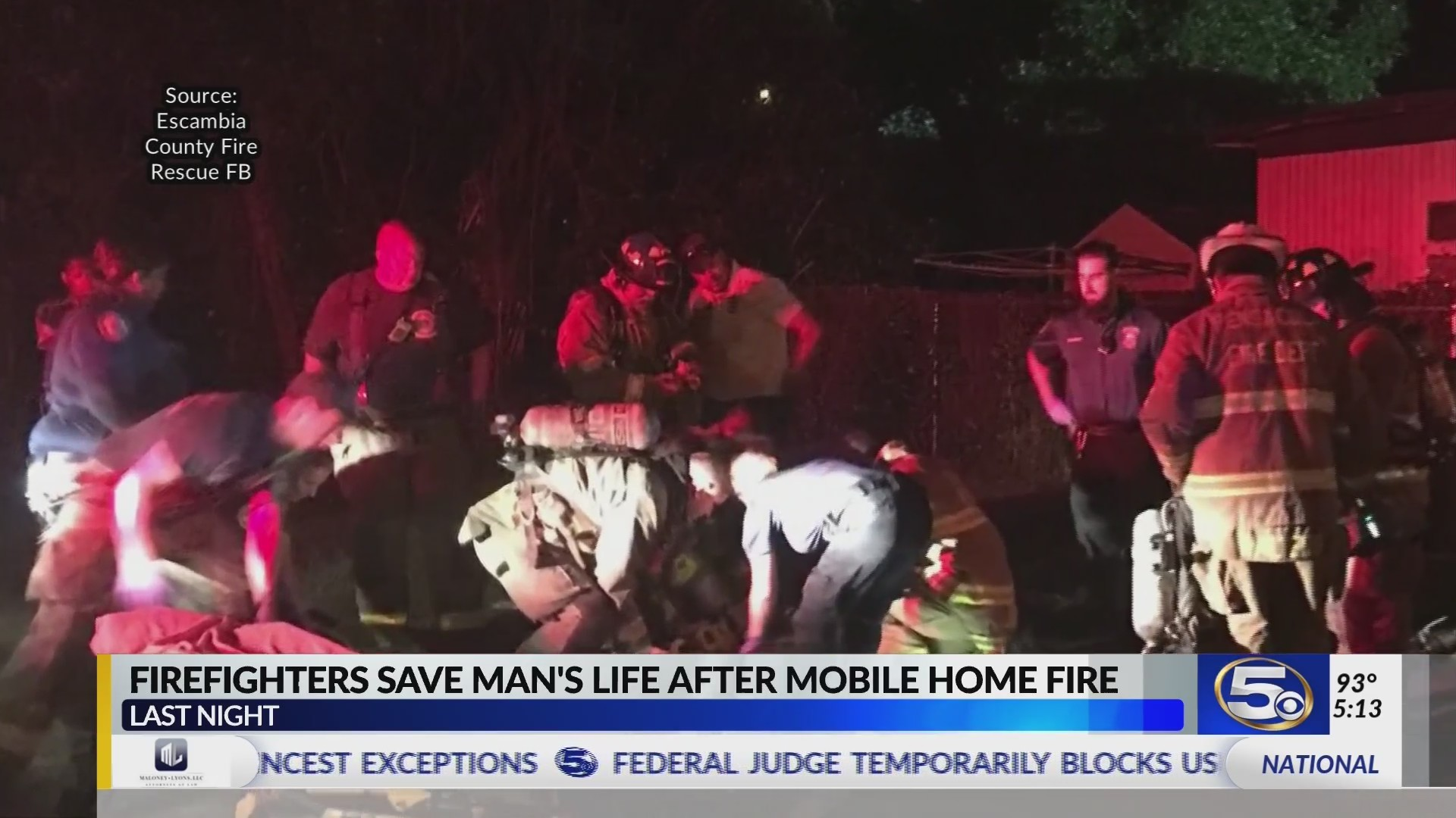 Firefighters save man's life in NWFL