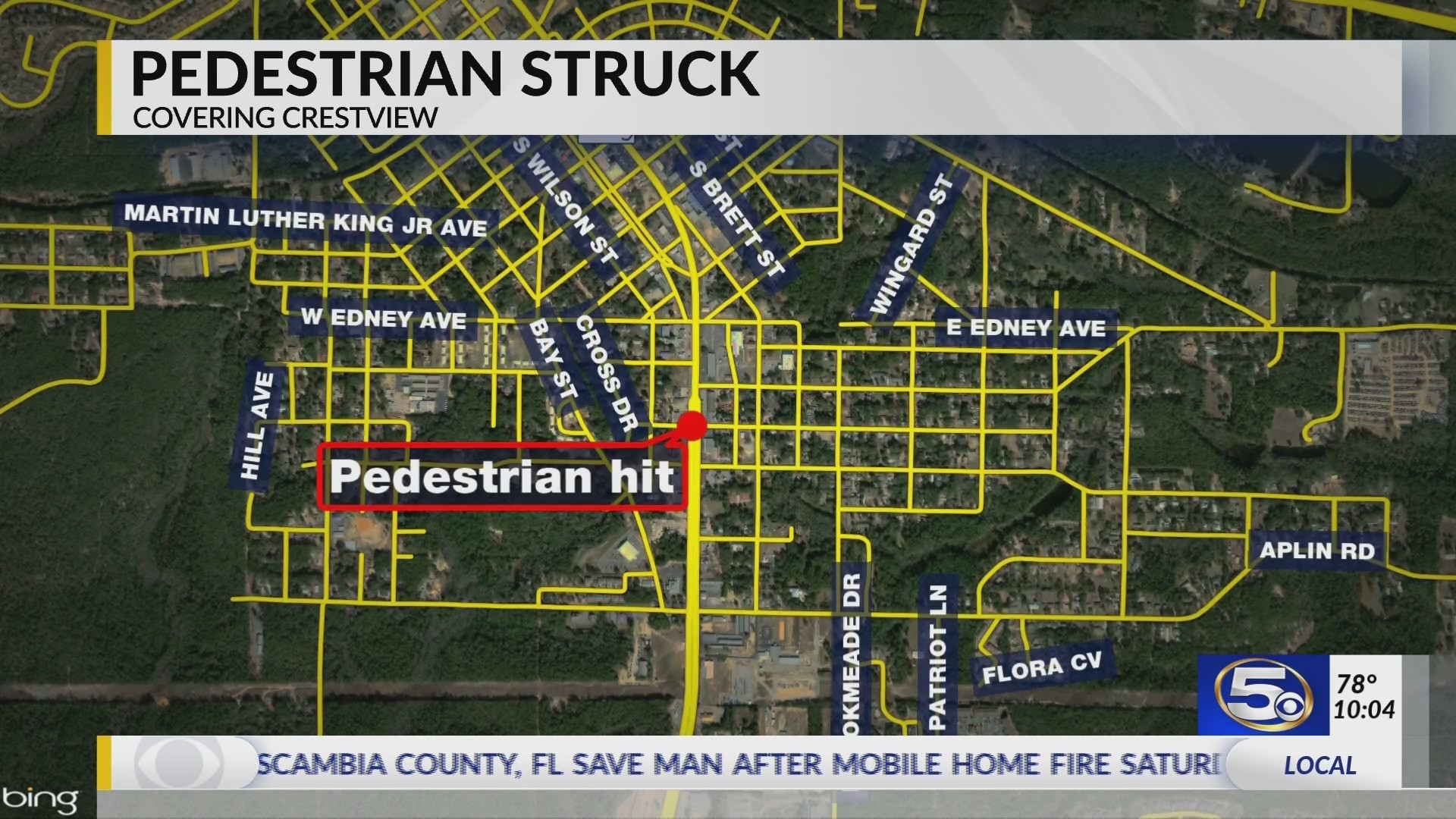 Man hit by car in Crestview in serious condition