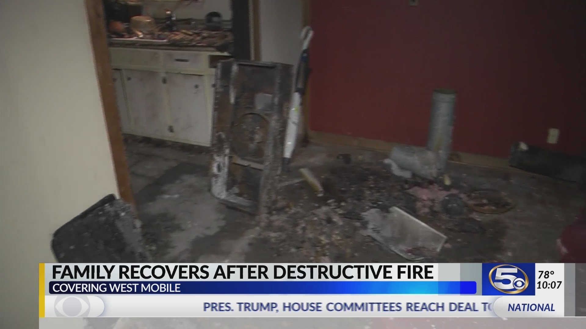 Mobile family continues to recover following destructive fire
