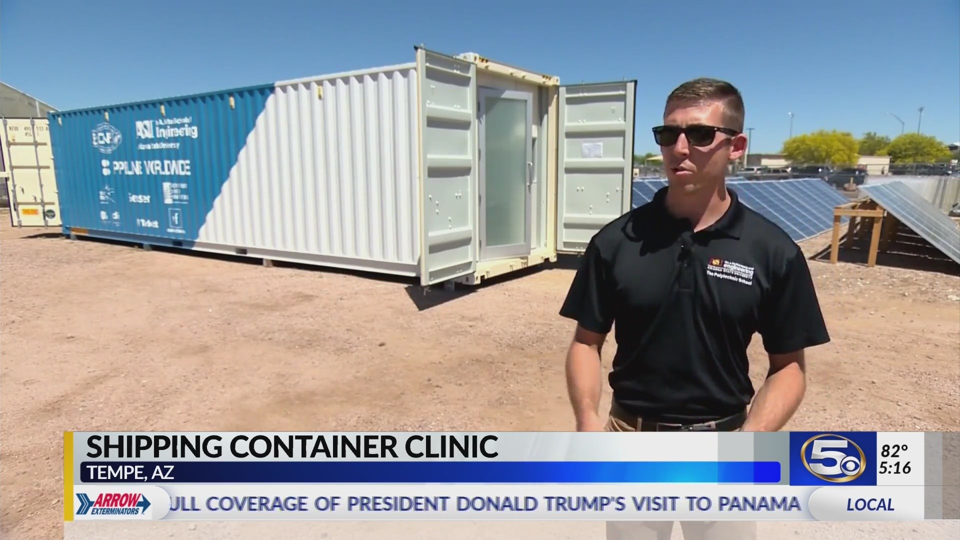 VIDEO: Student researchers turn shipping containers into solar powered medical clinics