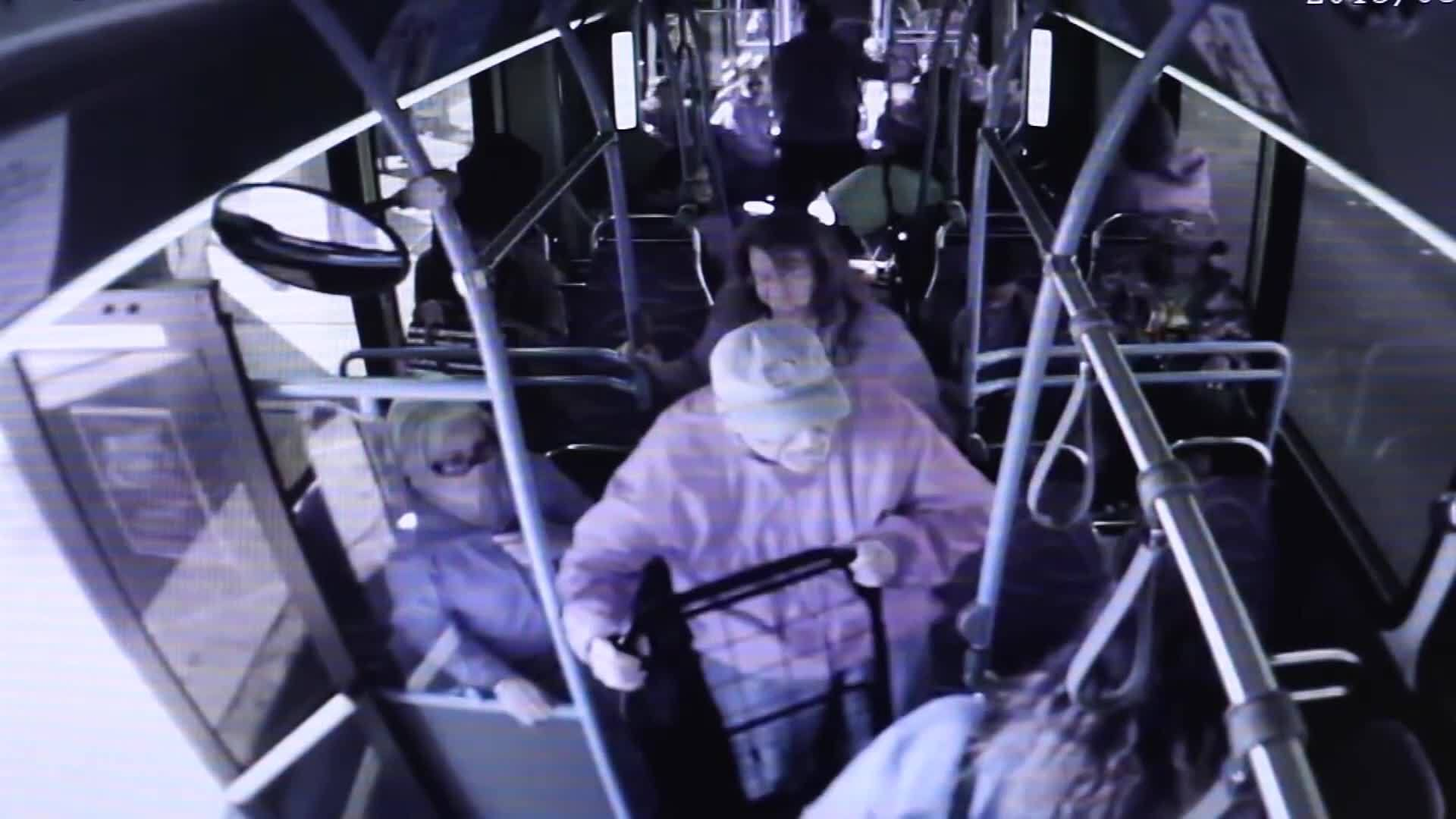 Video shows moment elderly man is pushed off bus before his death