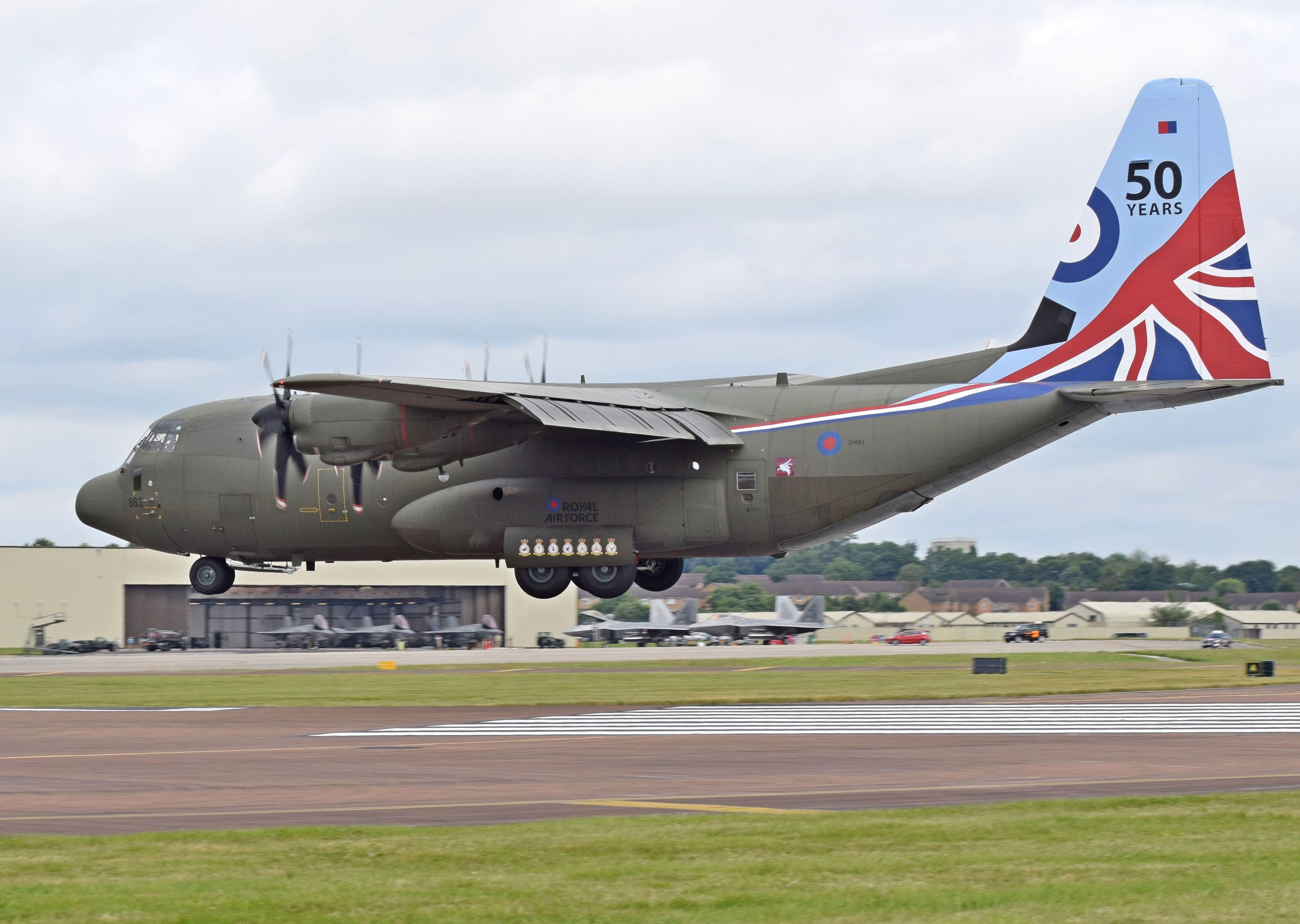 File picture of a C-130J Super Hercules with the RAF