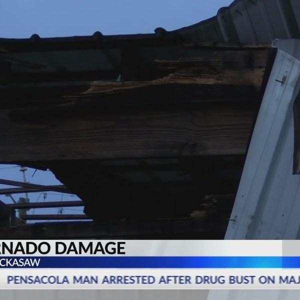 Confirmed Chickasaw tornado knocks roof off Ransom Ministries