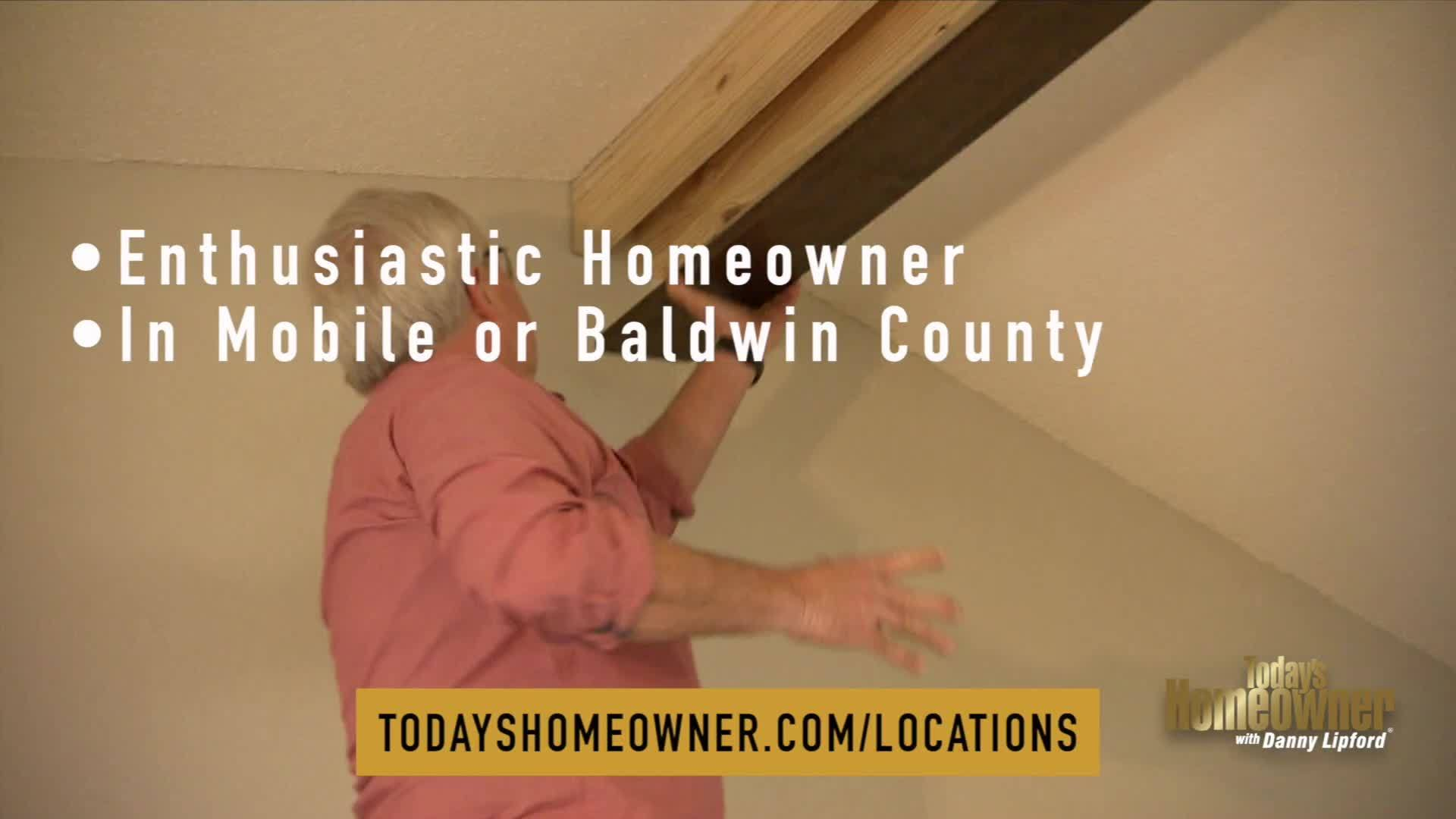 """""""Today's Homeowner"""" is launching a big campaign seeking locations/homeowners to appear on the new season of the show and Danny wants to invite you!"""