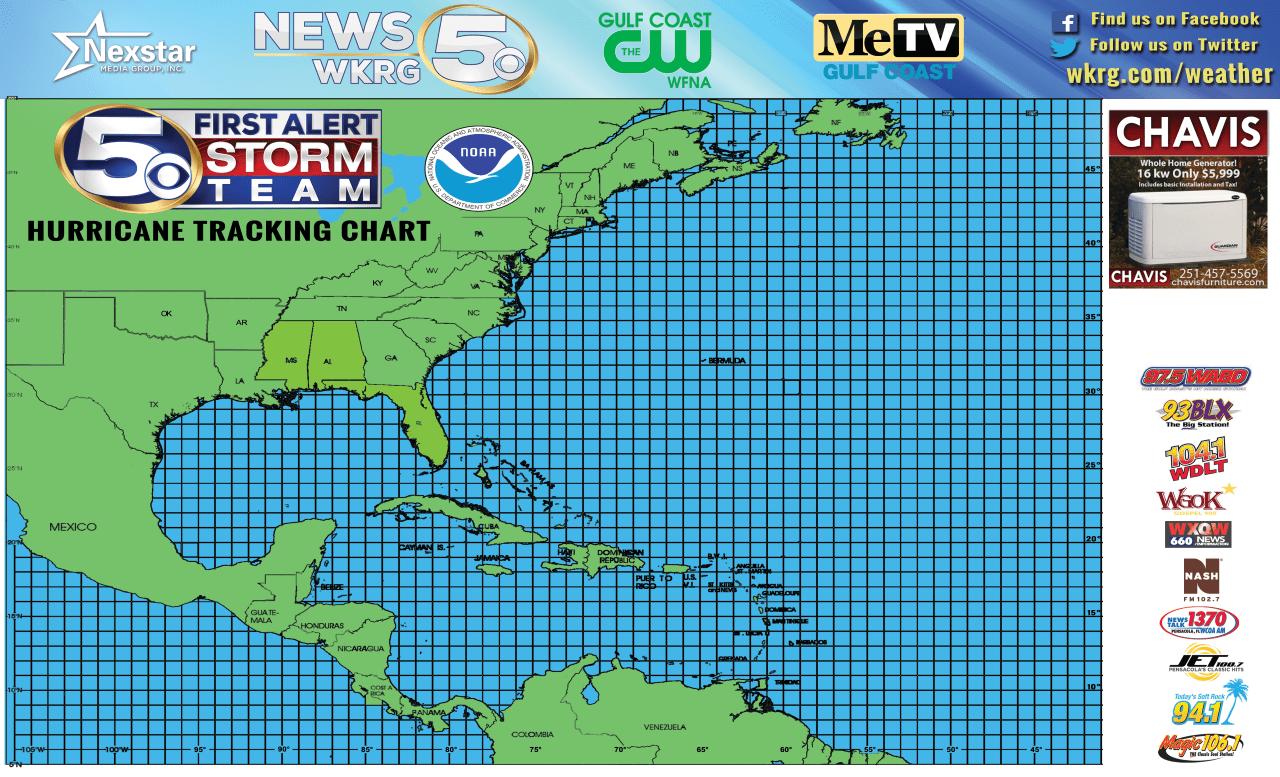 Print Your Free First Alert Storm Team Hurricane Tracker Map Wkrg News 5