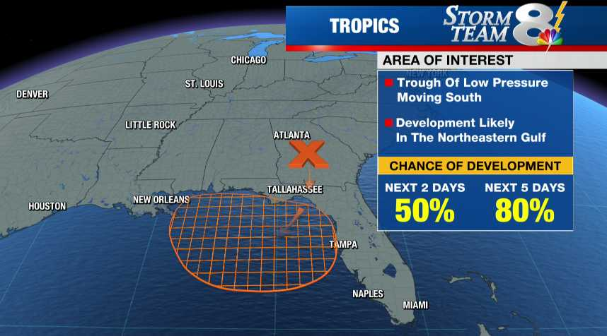 TRACKING THE TROPICS: Tropical development likely in Gulf of Mexico ...