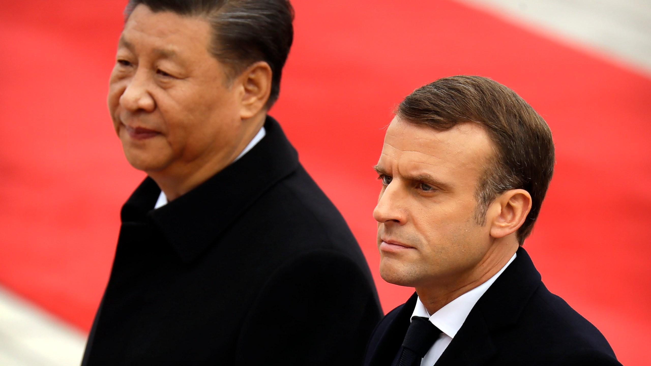 Xi Jinping, Emmanuel Macron