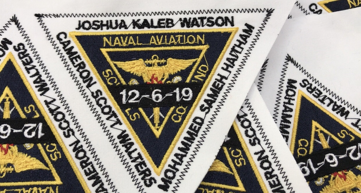 Local business honors victims of NAS Pensacola shooting with memorial patches