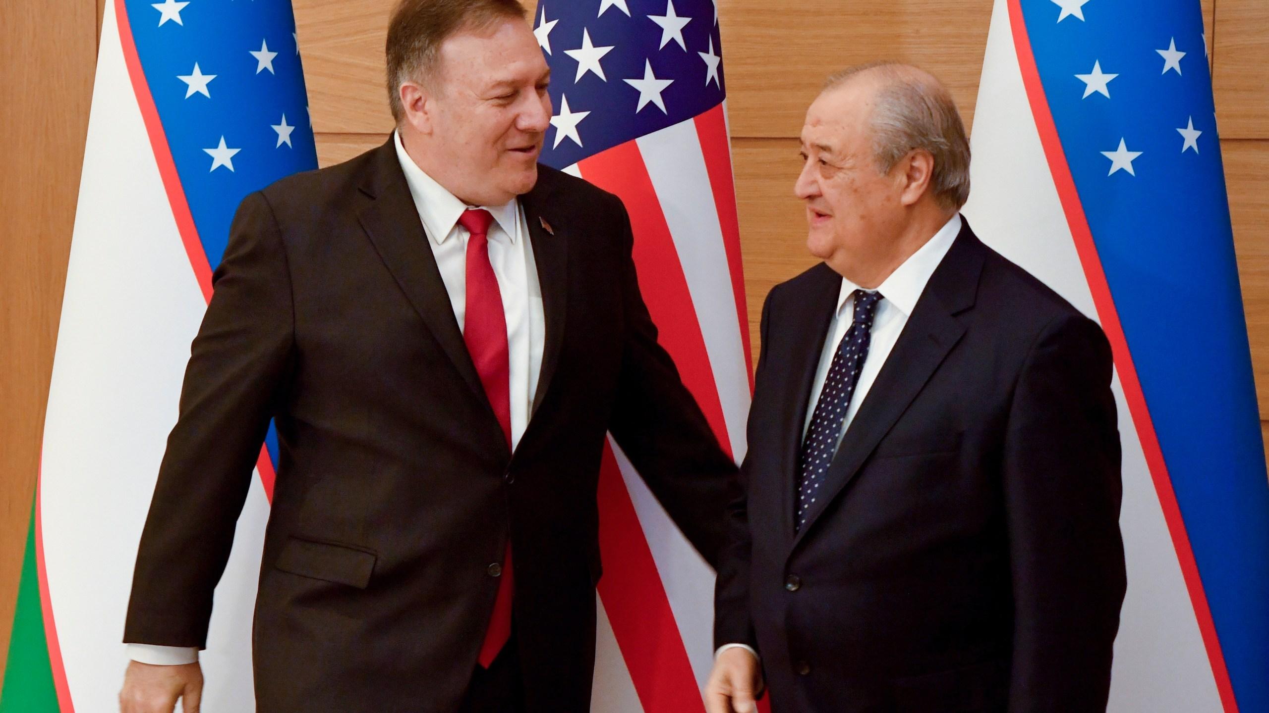 Mike Pompeo, Abdulaziz Kamilov