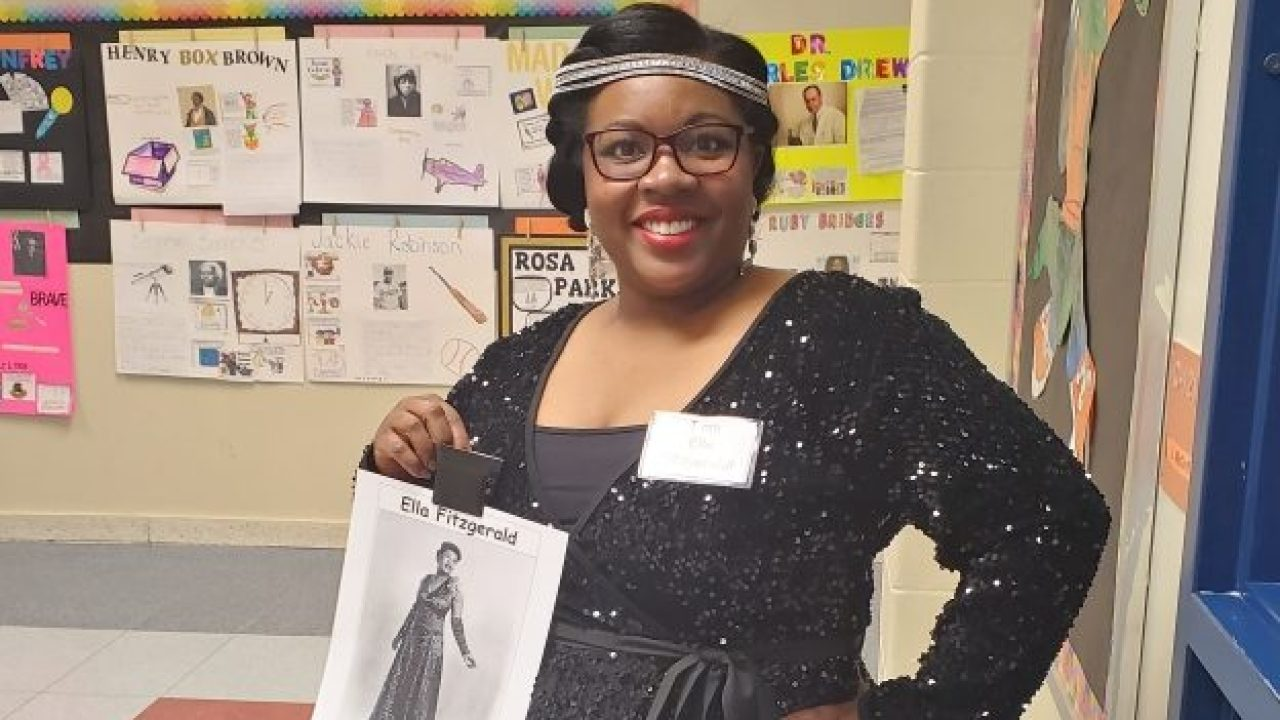 Suffolk teacher dresses up as famous figures for Black History Month