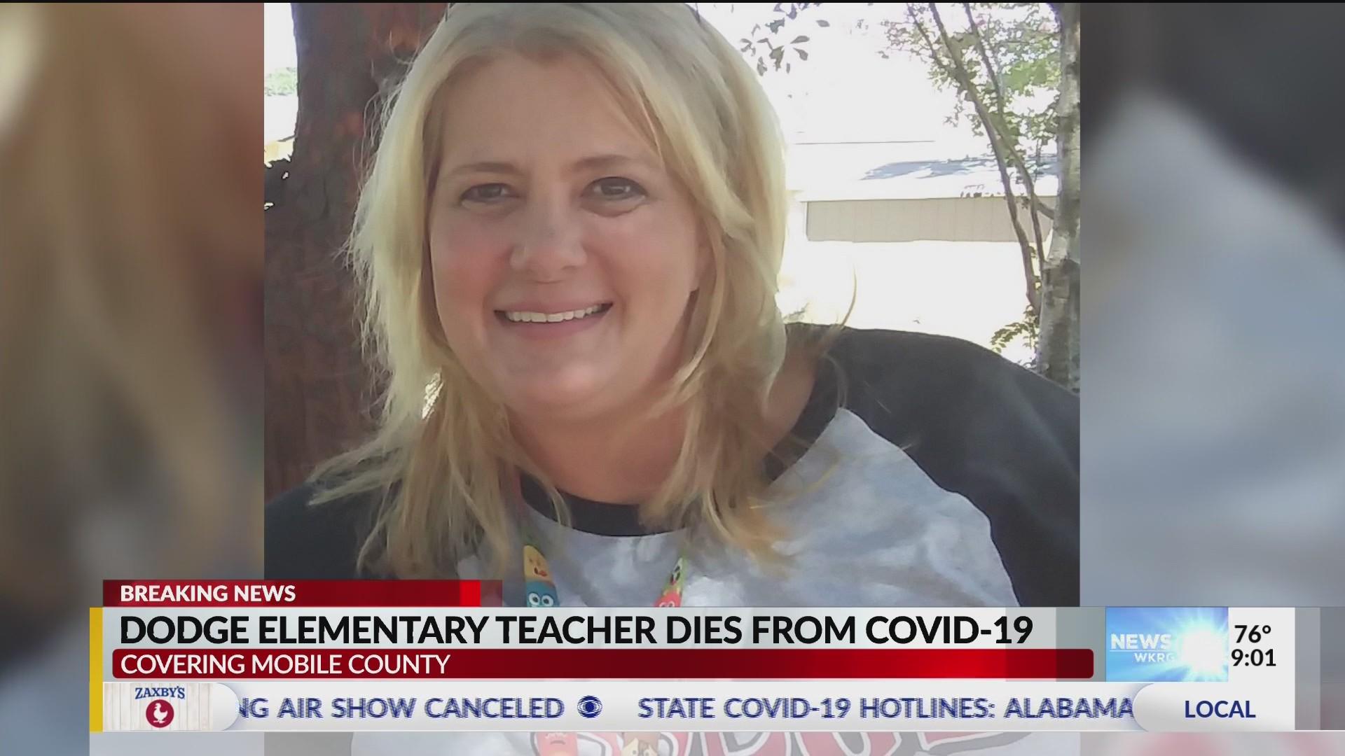 dodge elementary teacher covid WKRG  Dodge Elementary teacher dies from COVID-2
