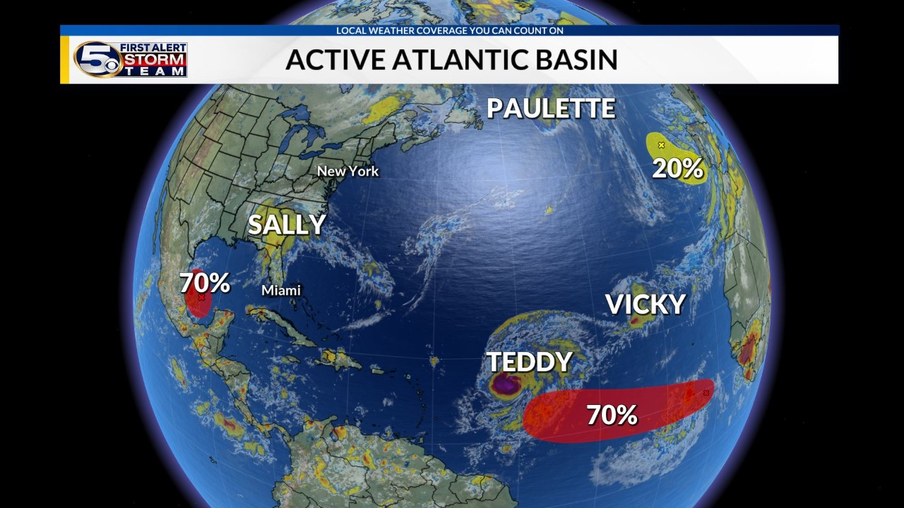 Tropics remain active in wake of Sally