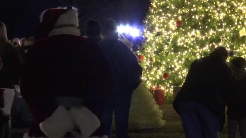 WKRG   Christmas tree lighting brightens spirits in Citronelle