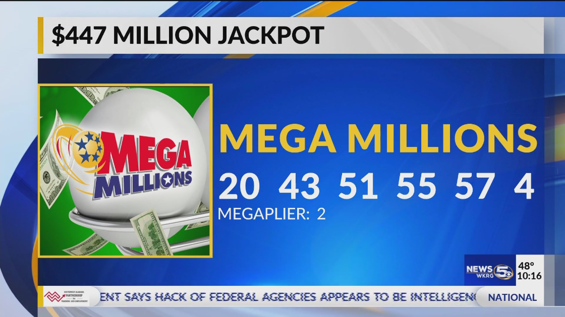 Wkrg Mega Millions Tops 447 Million For Tuesday S Drawing