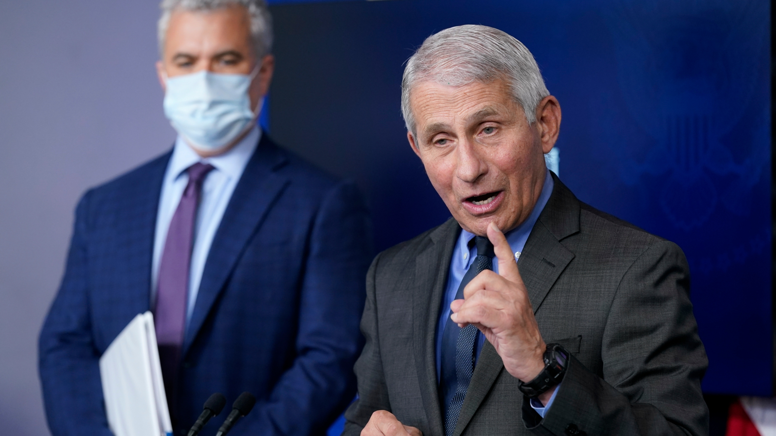 Anthony Fauci, Jeff Zients