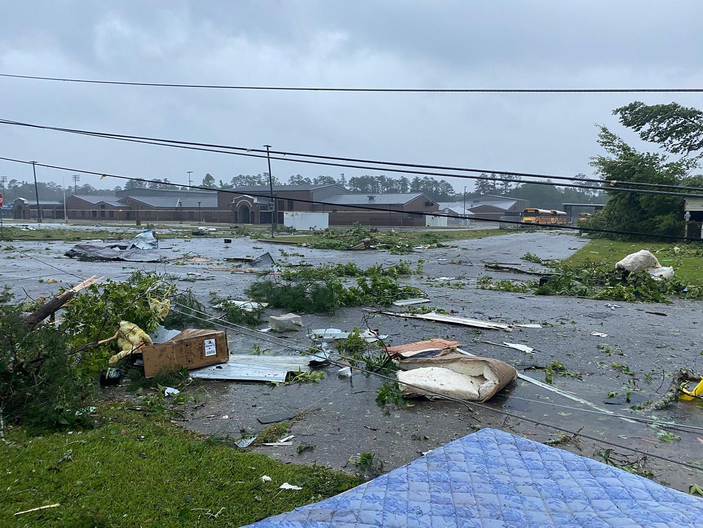 Mobile home park damaged in East Brewton