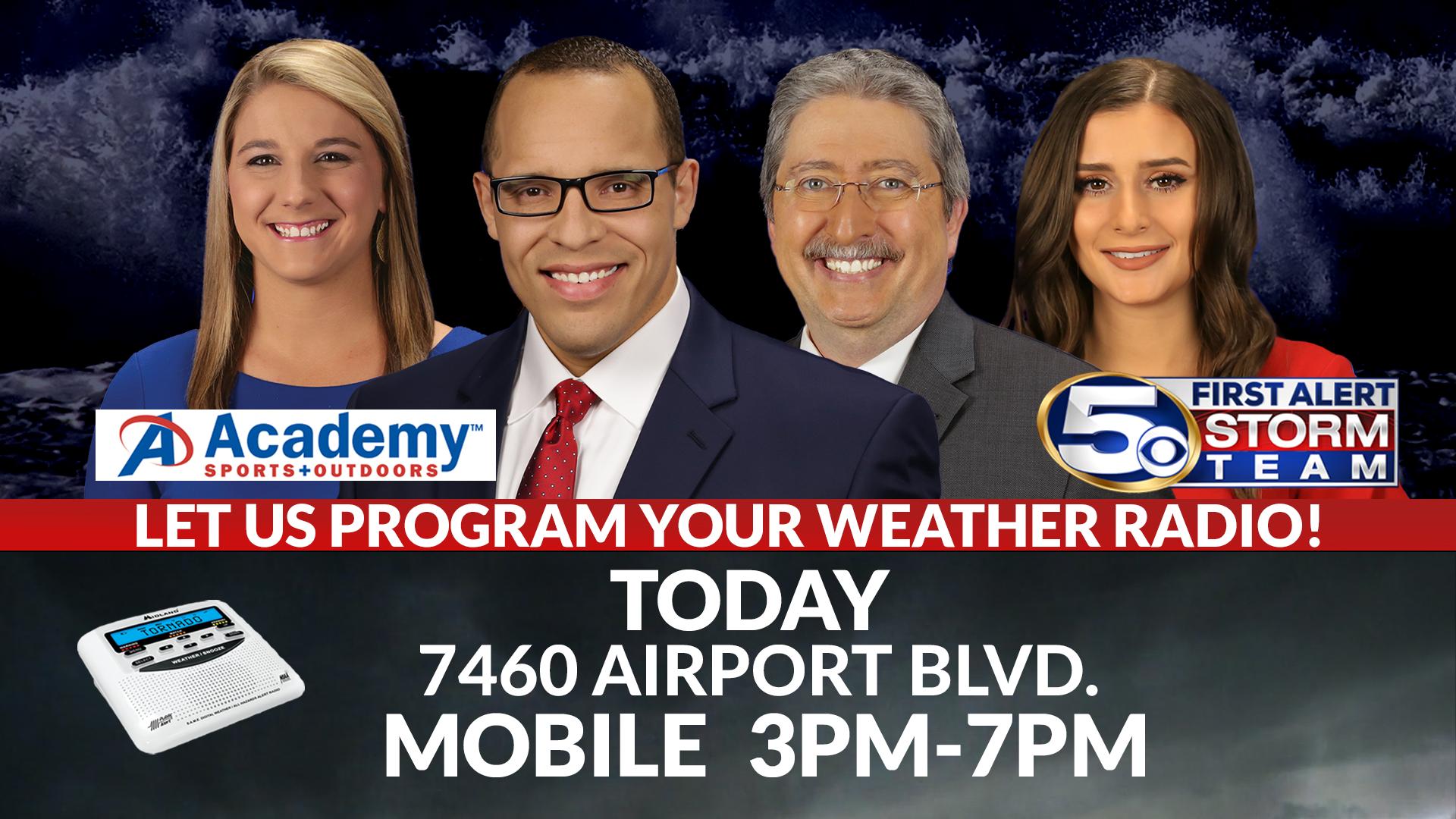 WKRG News 5 Weather Radio programming event