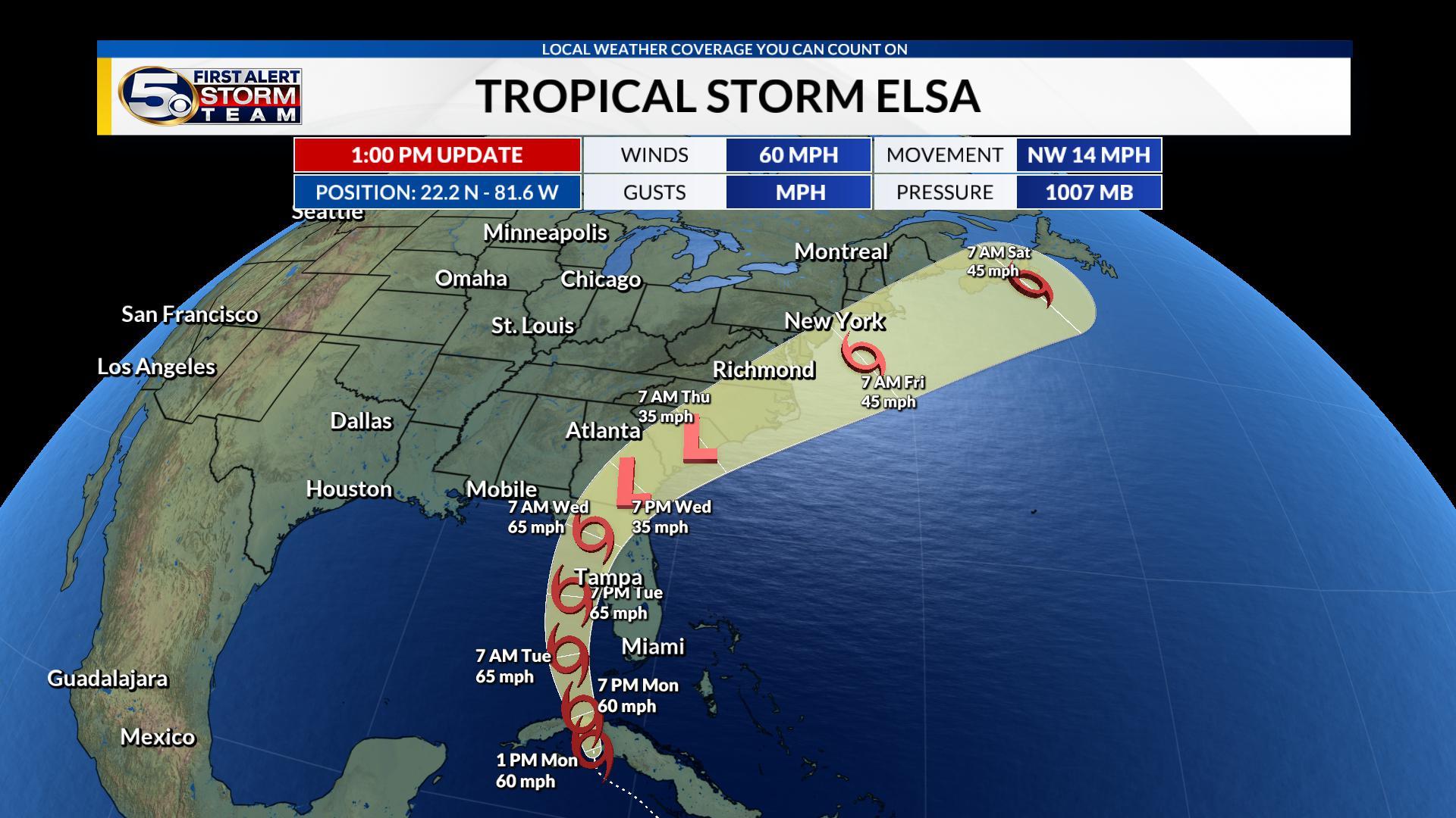 Tropical Storm Elsa Path: Latest Update