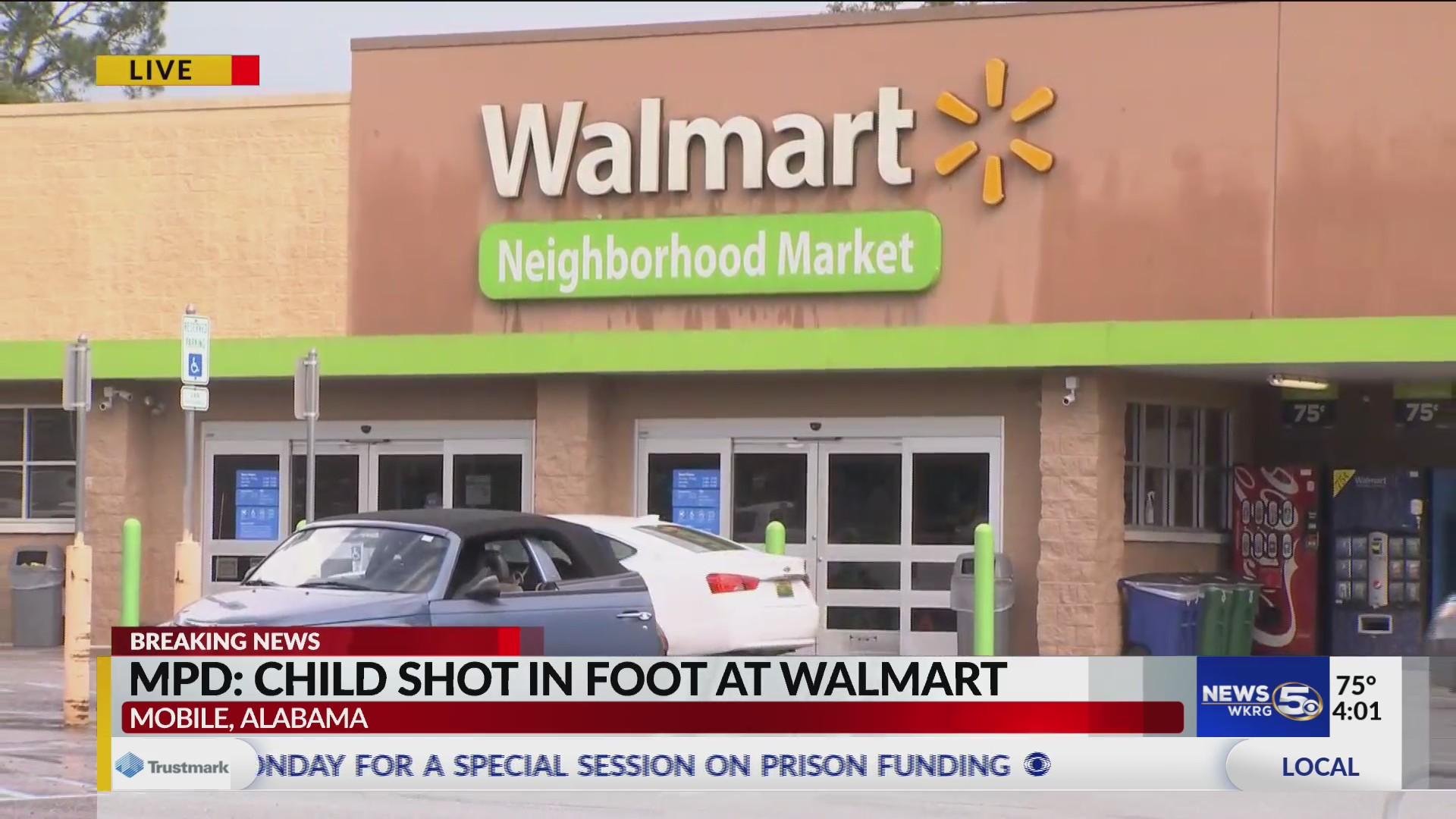 5-year-old shot inside Mobile Walmart