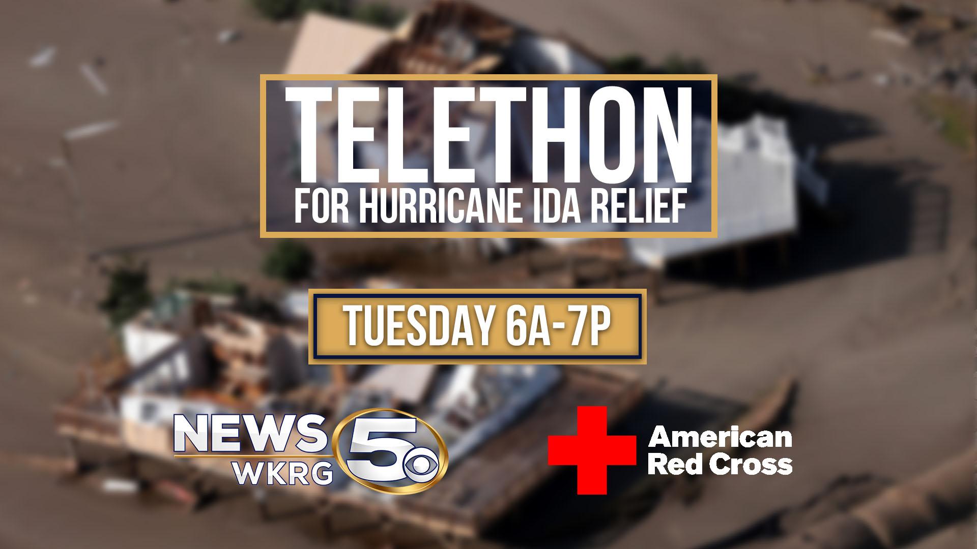 Hurricane Ida telethon WordPress post graphic
