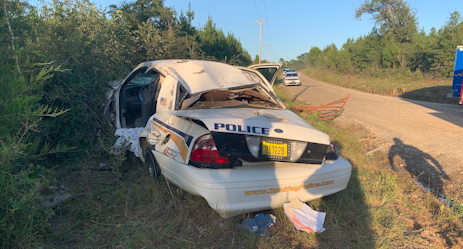 Two police officers taken to the hospital after police chase