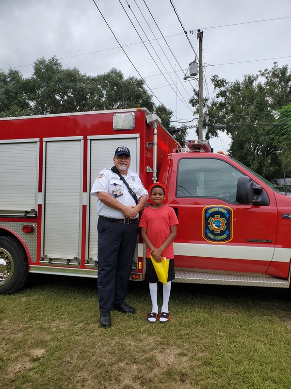 Escambia Fire and Rescue birthday visit