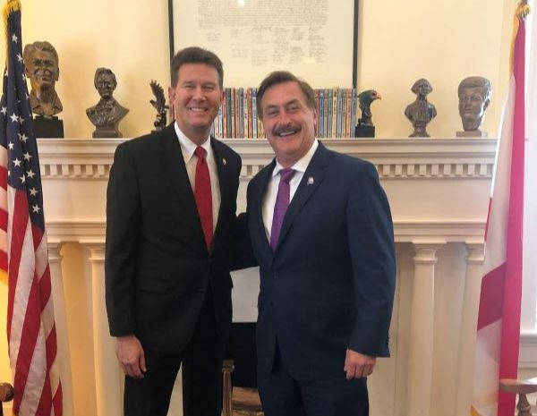 CEO of 'My Pillow' visits Alabama Secretary of State's Office