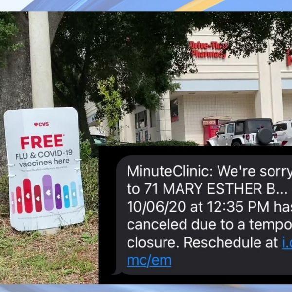 No staff to run CVS rapid antigen testing site near Fort Walton Beach