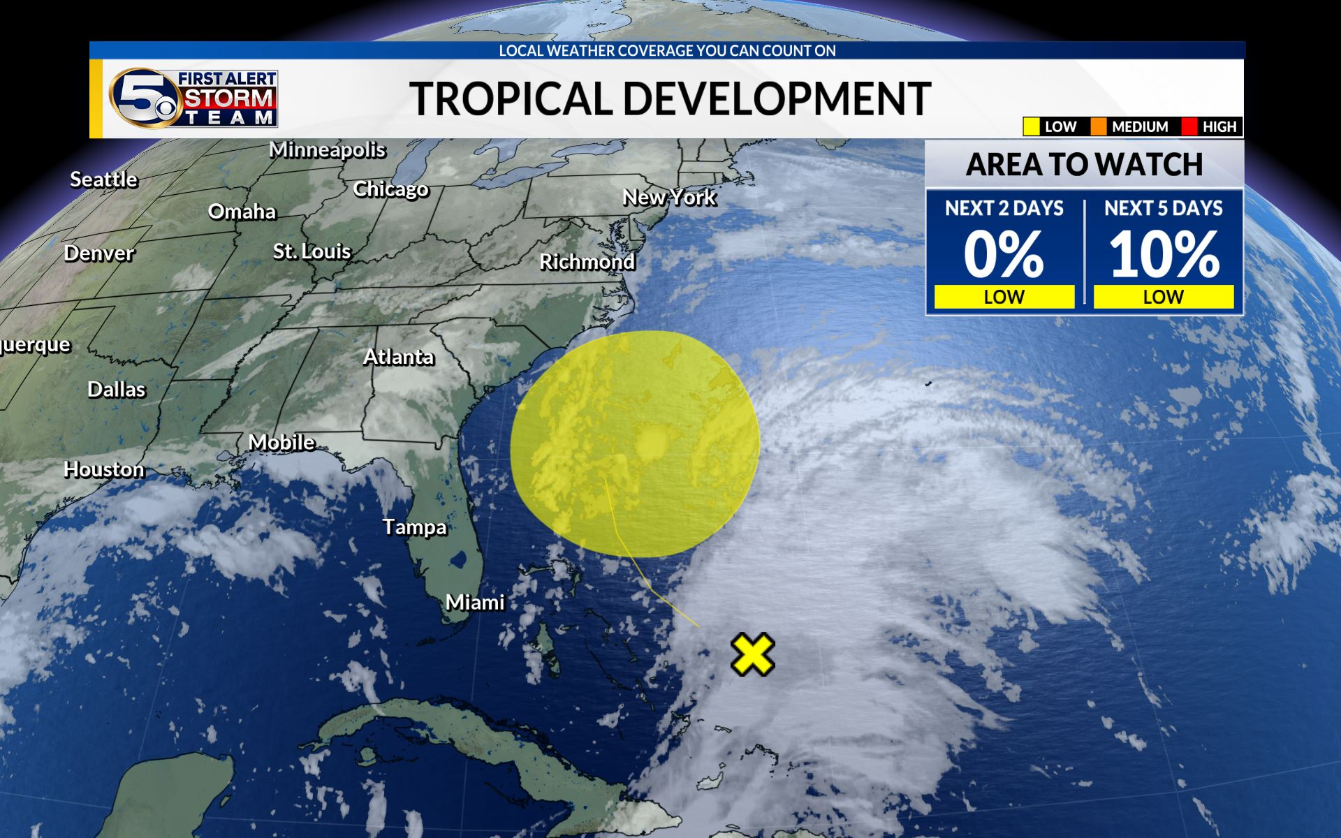 Tropical Wave heading towards the southeast