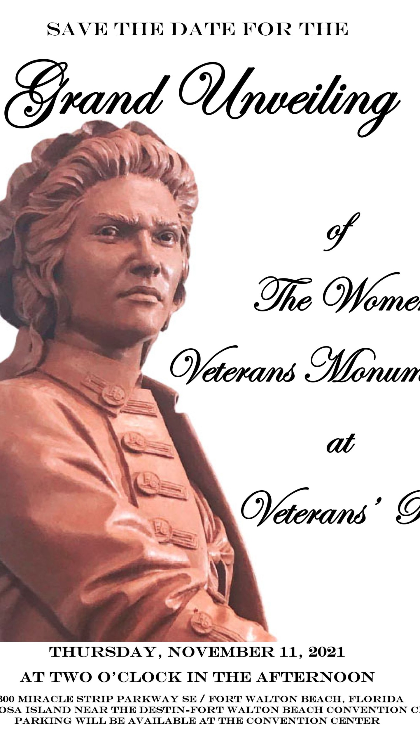Women veterans monuments unveiling in Okaloosa County